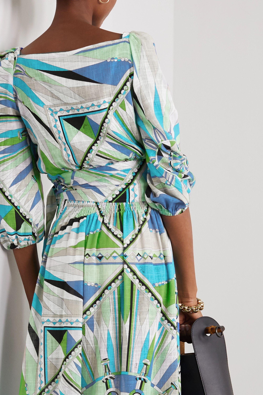 Emilio Pucci Printed cotton-voile wrap top