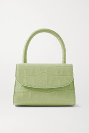 BY FAR Croc-effect leather tote