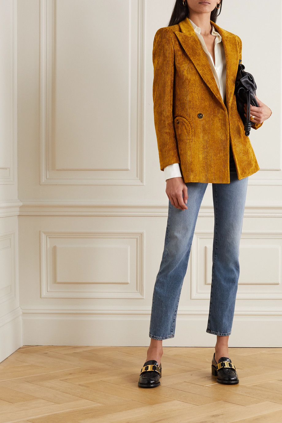 Blazé Milano Chance Remark Everyday double-breasted corduroy blazer