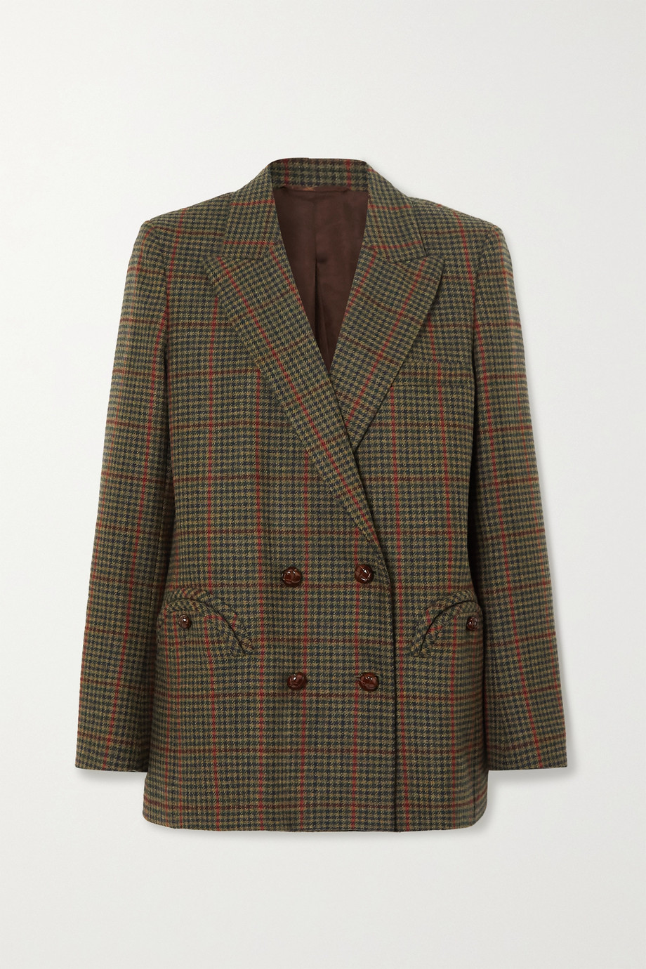 Blazé Milano Drum Beat Everynight checked wool blazer