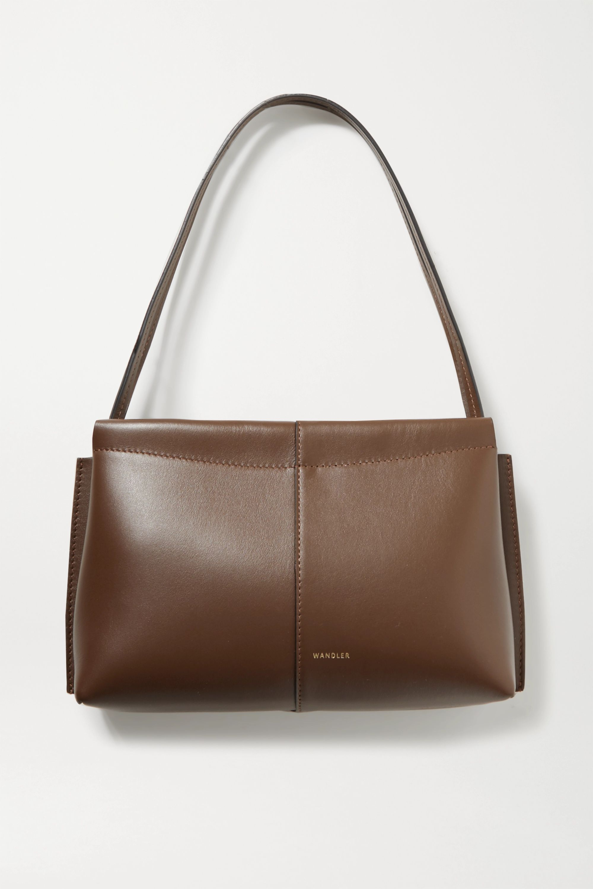 Chocolate Carly Mini Leather Tote | Wandler