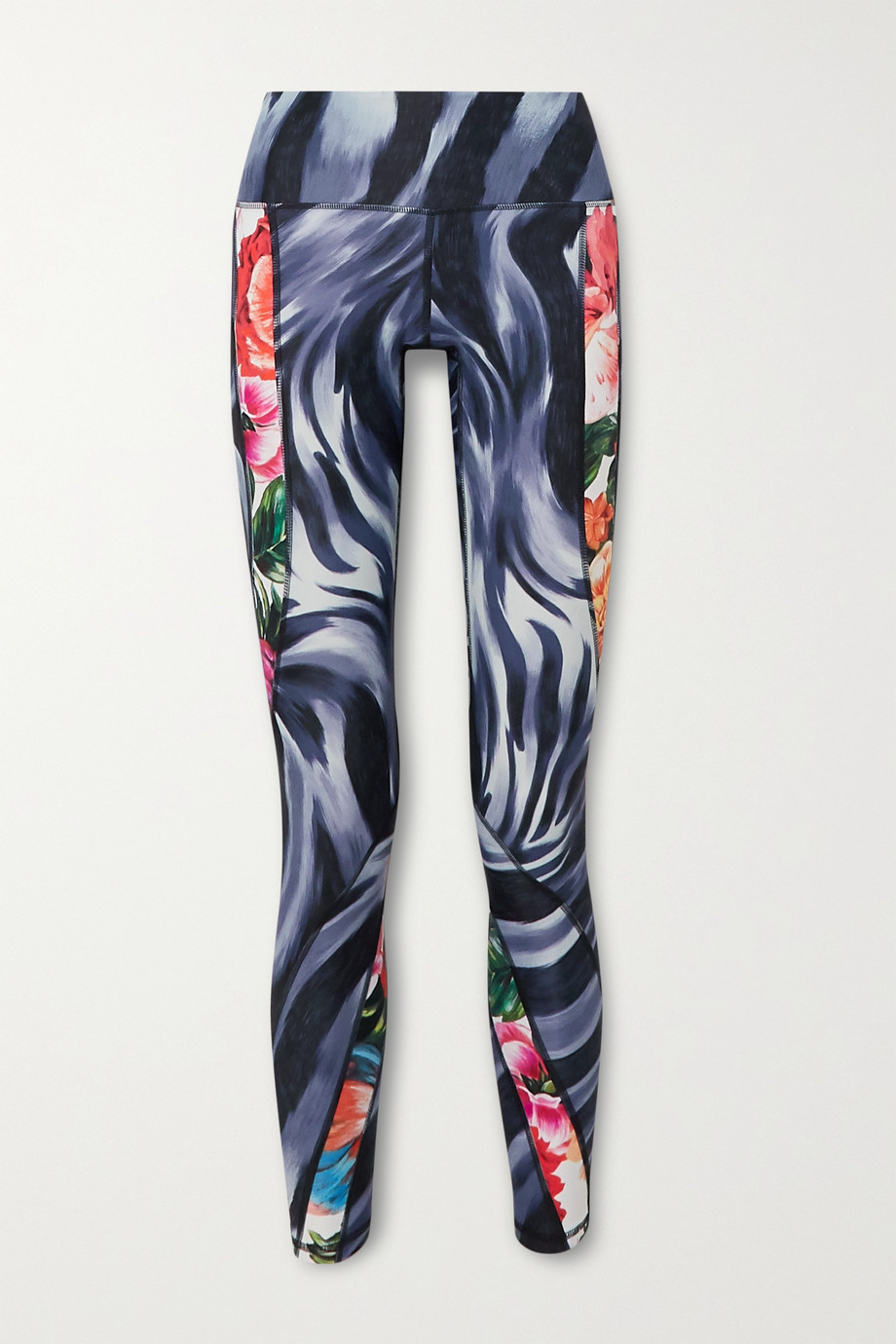 Twin Fantasy Paneled printed stretch leggings