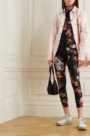 Twin Fantasy Floral-print stretch turtleneck top