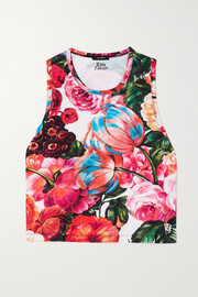 Twin Fantasy Floral-print stretch tank