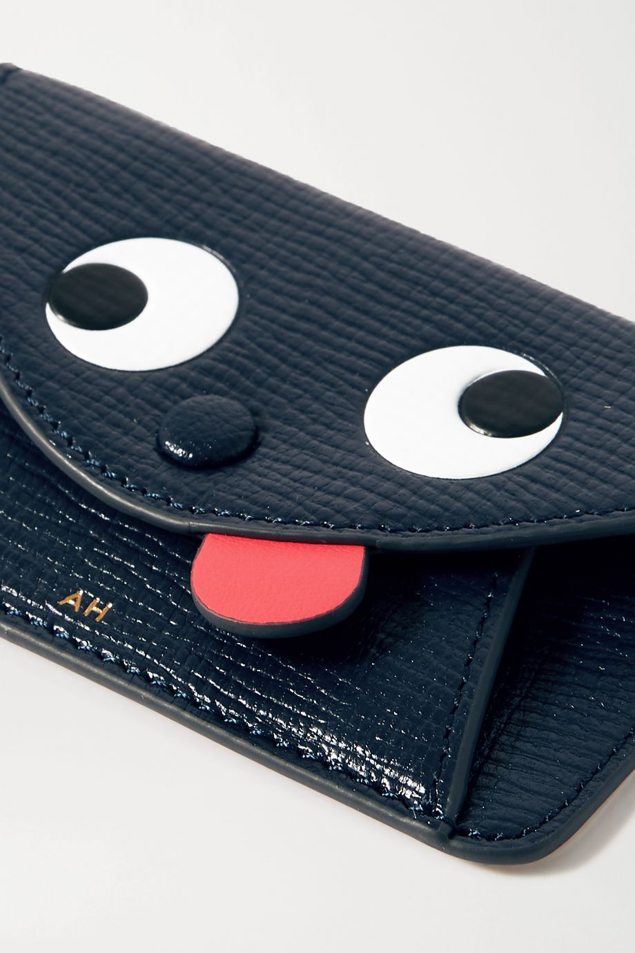 Anya Hindmarch Zany textured-leather cardholder sticker