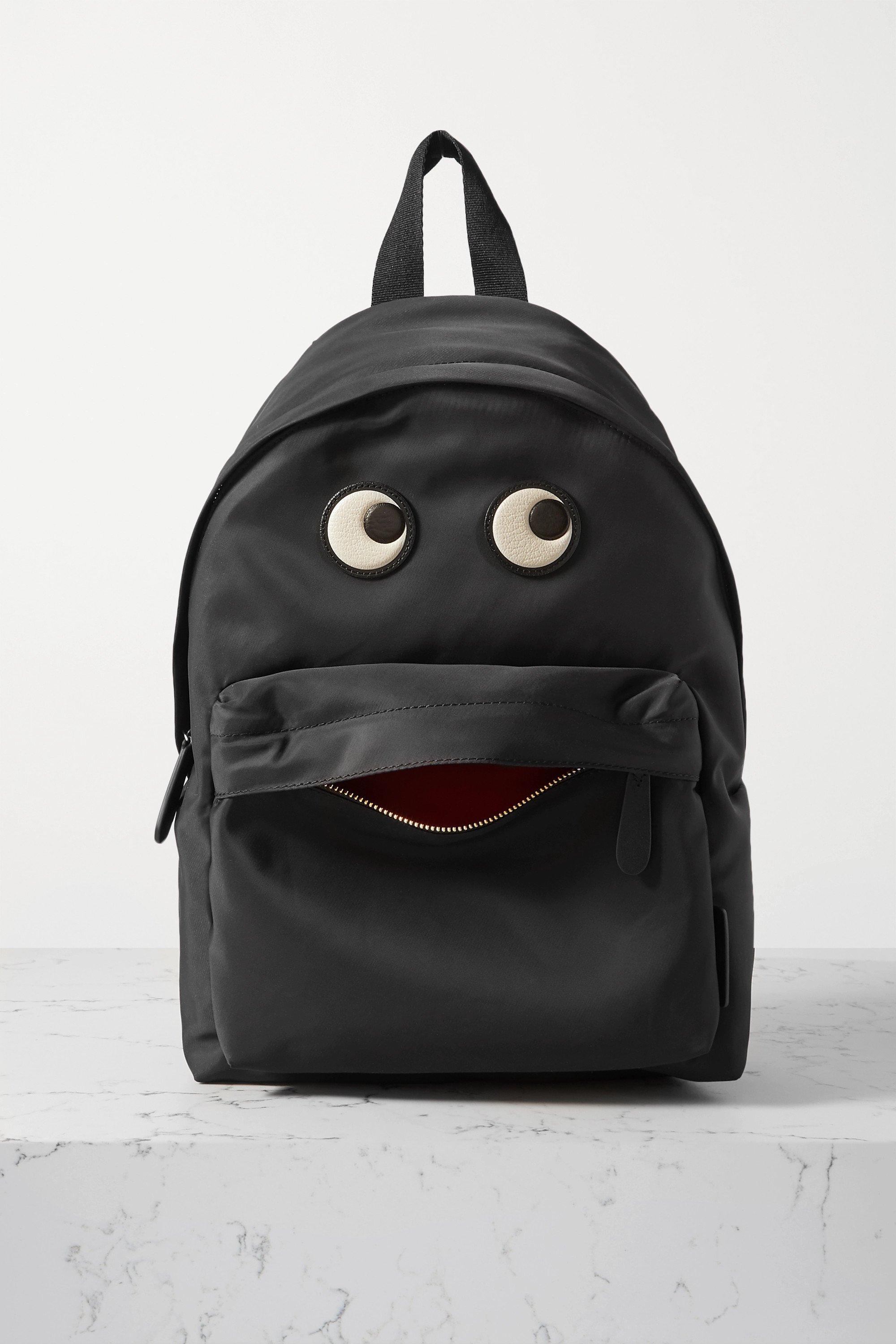 Anya Hindmarch Eyes leather-trimmed shell backpack