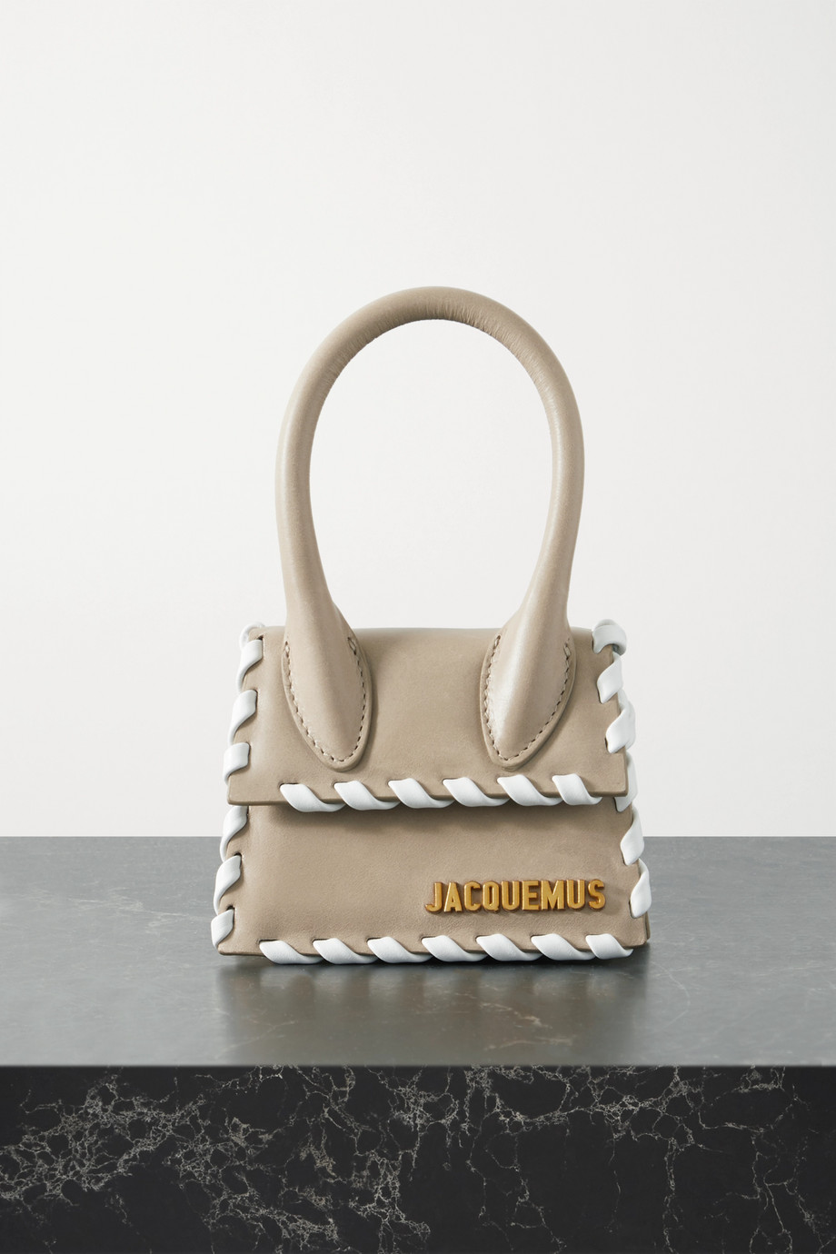Jacquemus Le Chiquito whipstitched leather tote