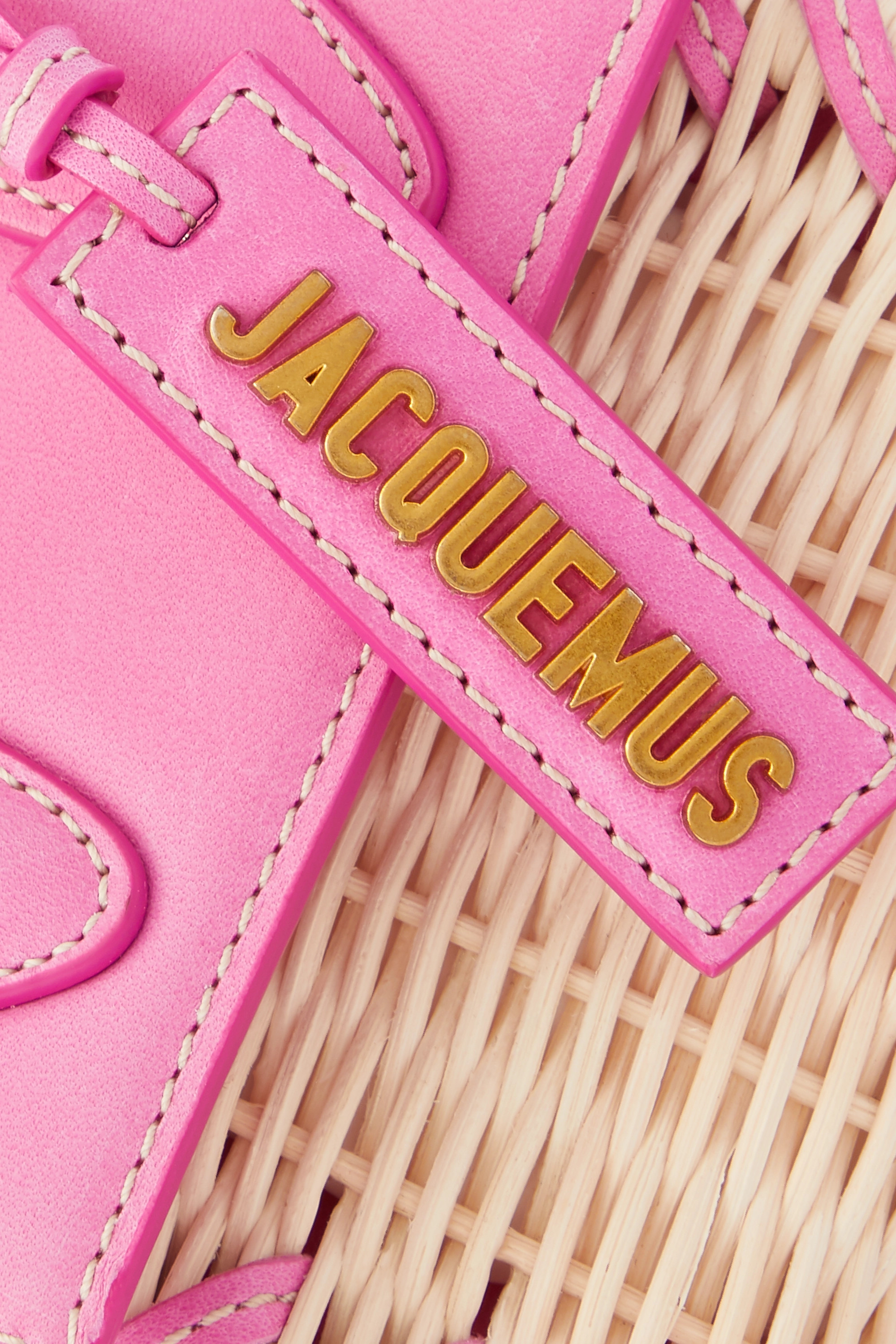 Jacquemus Le Chiquito leather-trimmed wicker tote