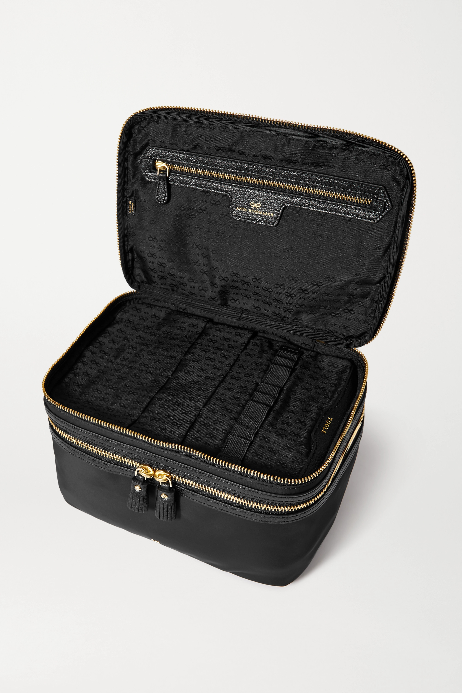 Anya Hindmarch Vanity Kit Kosmetikkoffer aus ECONYL® mit Lederbesätzen