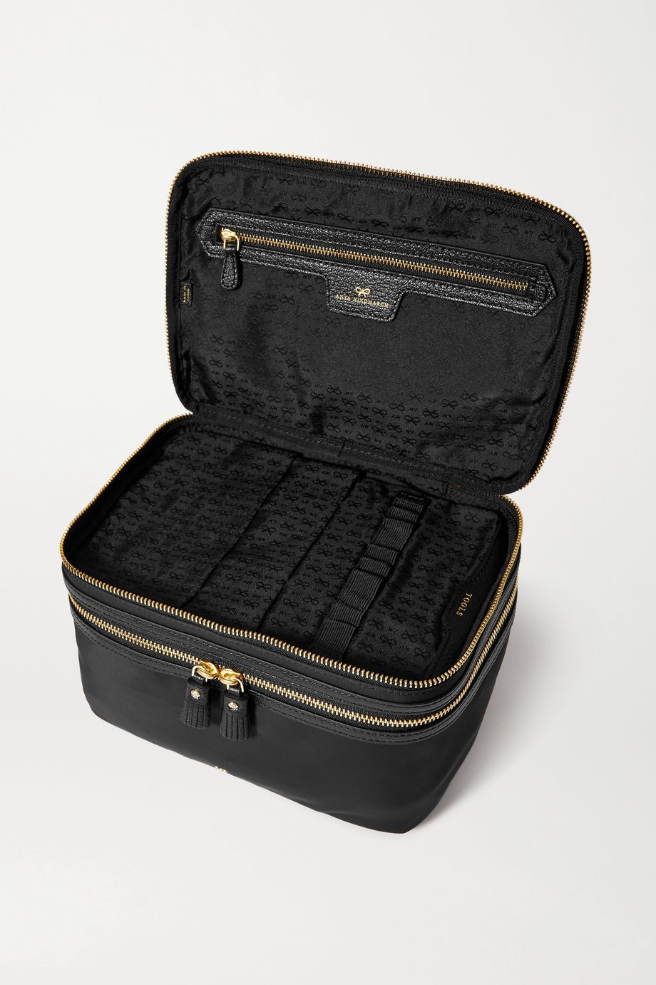 Anya Hindmarch Vanity Kit leather-trimmed ECONYL cosmetics case