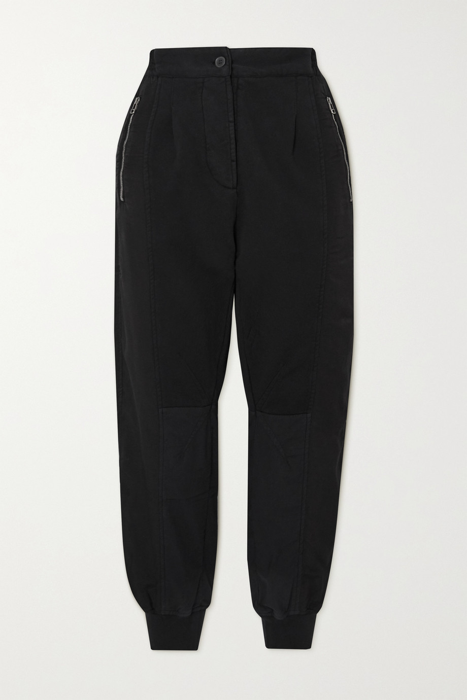 Haider Ackermann Cropped cotton-jersey and poplin track pants