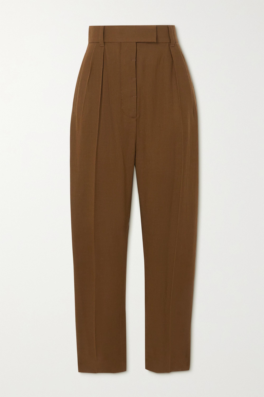 Haider Ackermann Meditation pleated straight-leg wool-twill pants