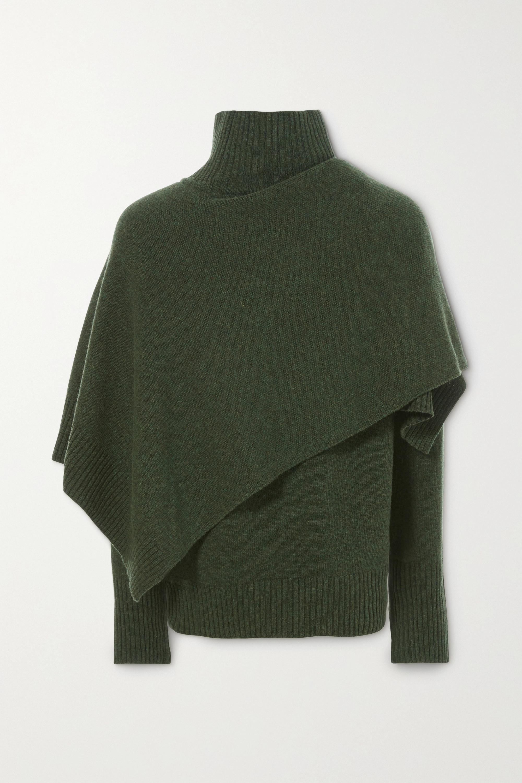 LVIR Draped wool turtleneck sweater