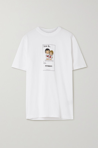 Vetements - Printed Cotton-jersey T-shirt - White