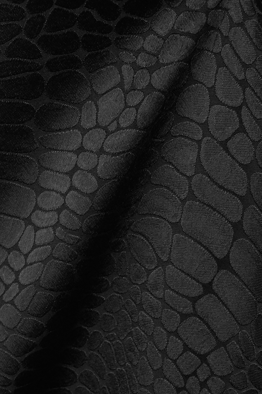 Black Asymmetric Satin-jacquard Dress   Vetements