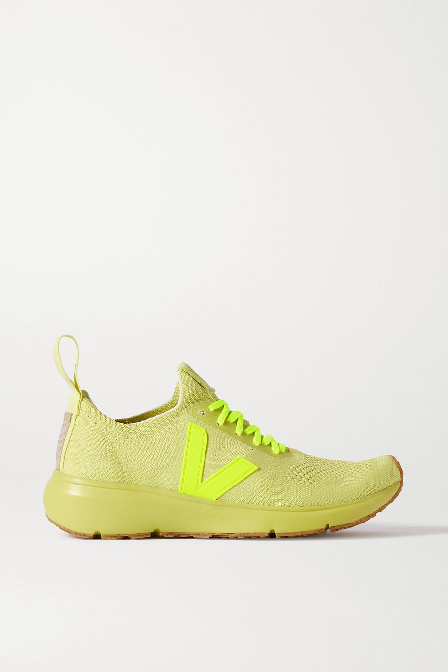 Rick Owens + Veja rubber-trimmed V-Knit sneakers