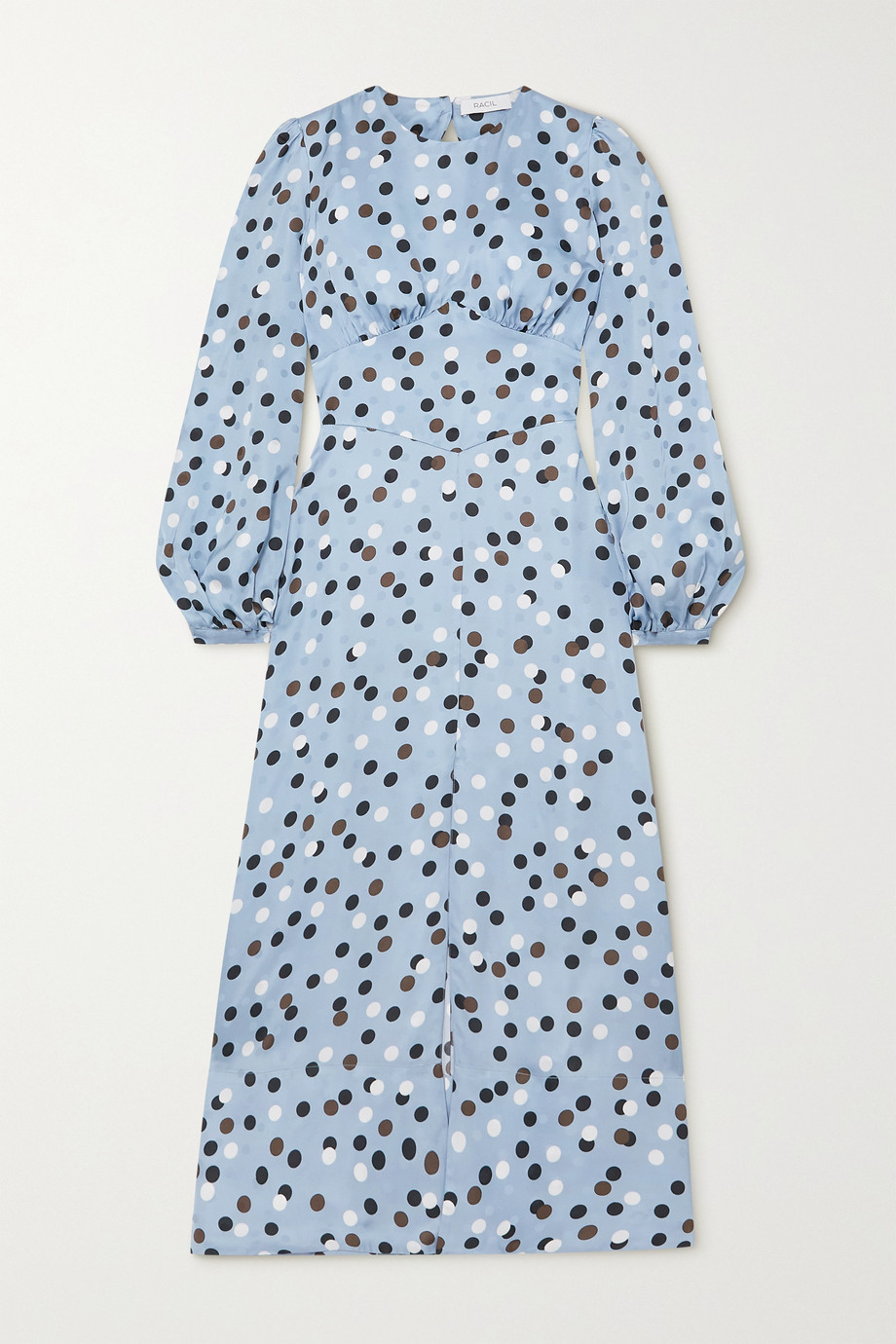 Racil Elisa open-back polka-dot satin midi dress