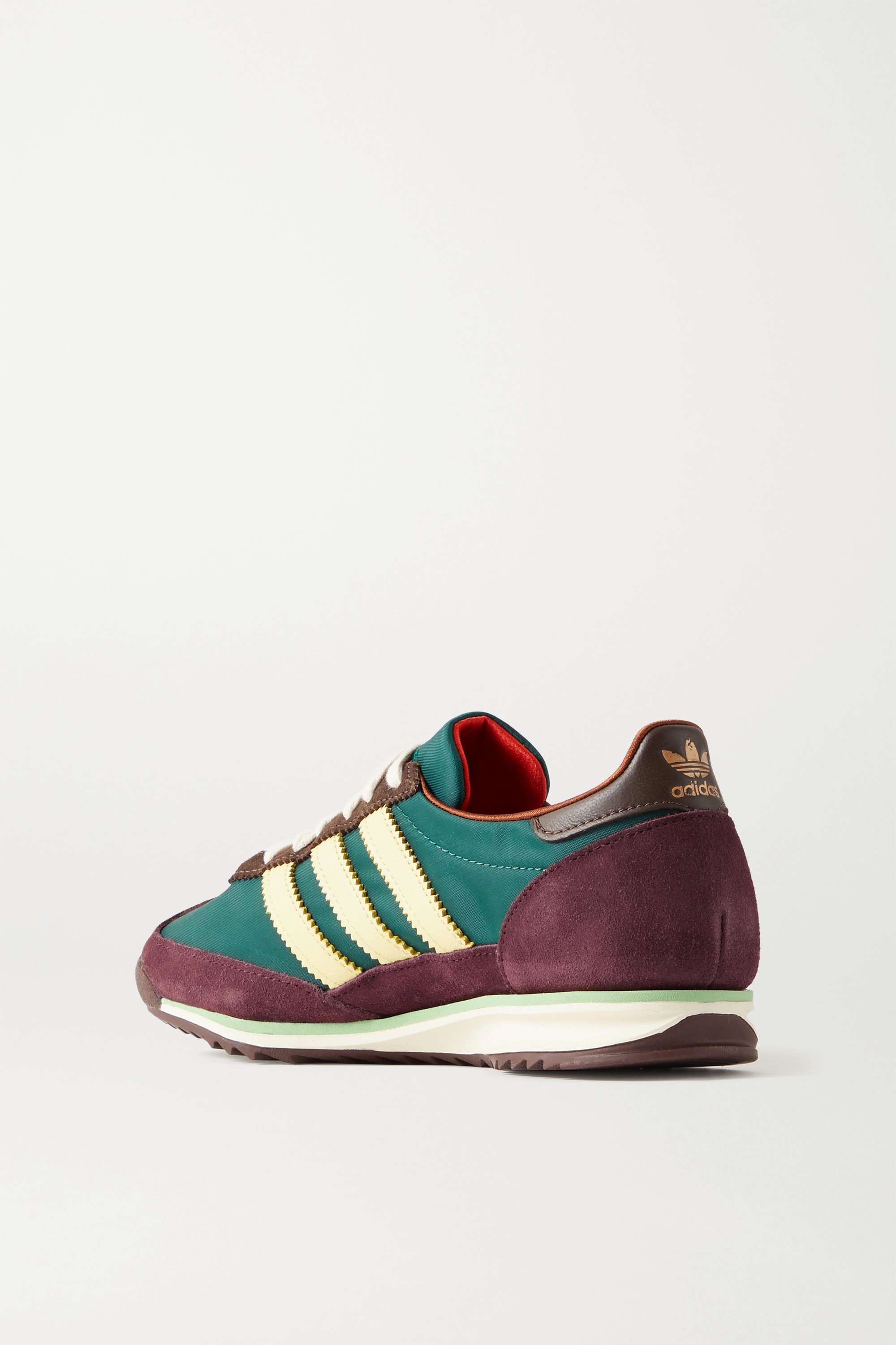 adidas Originals + Wales Bonner SL 72 shell, leather and suede sneakers