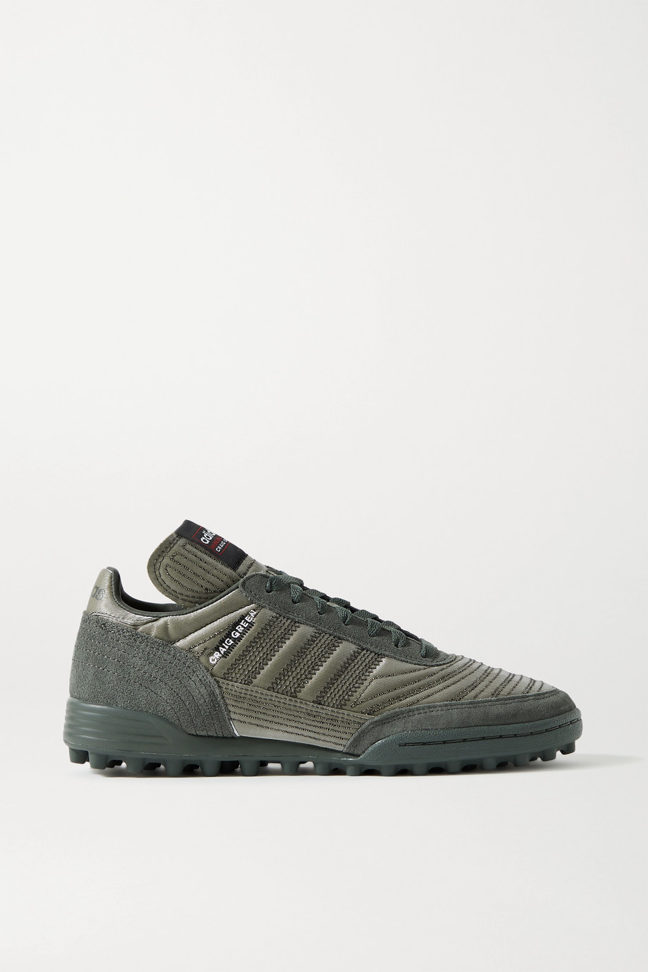 adidas Originals + Craig Green Kontuur III embroidered reflective shell and suede sneakers