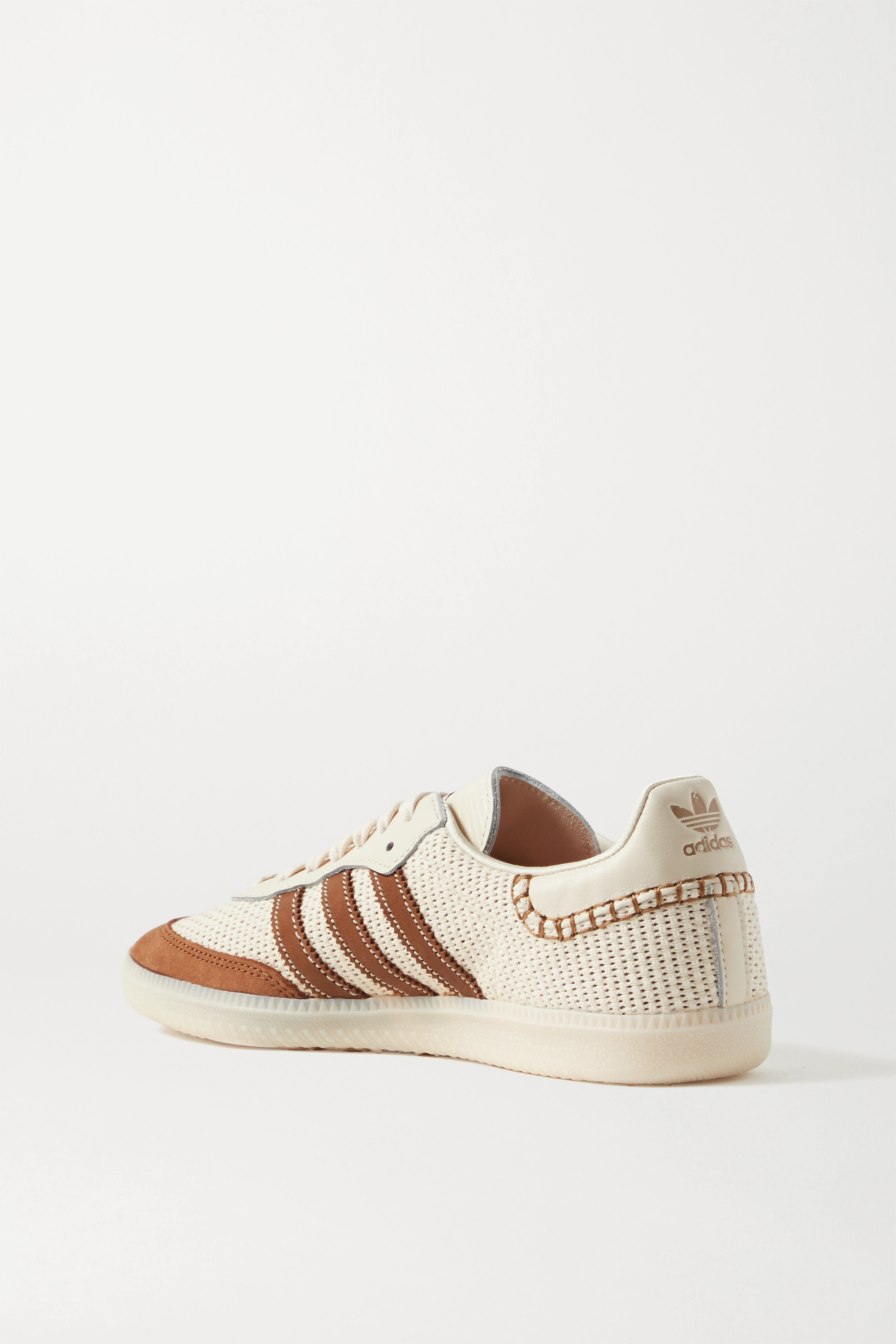 adidas Originals + Wales Bonner Samba suede, leather and mesh sneakers