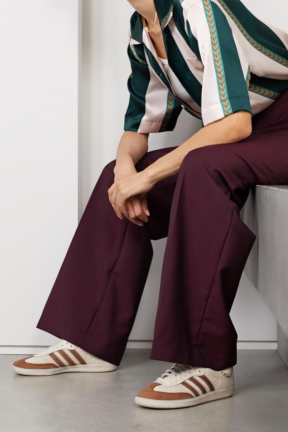adidas Originals + Wales Bonner Samba Sneakers aus Veloursleder, Leder und Mesh