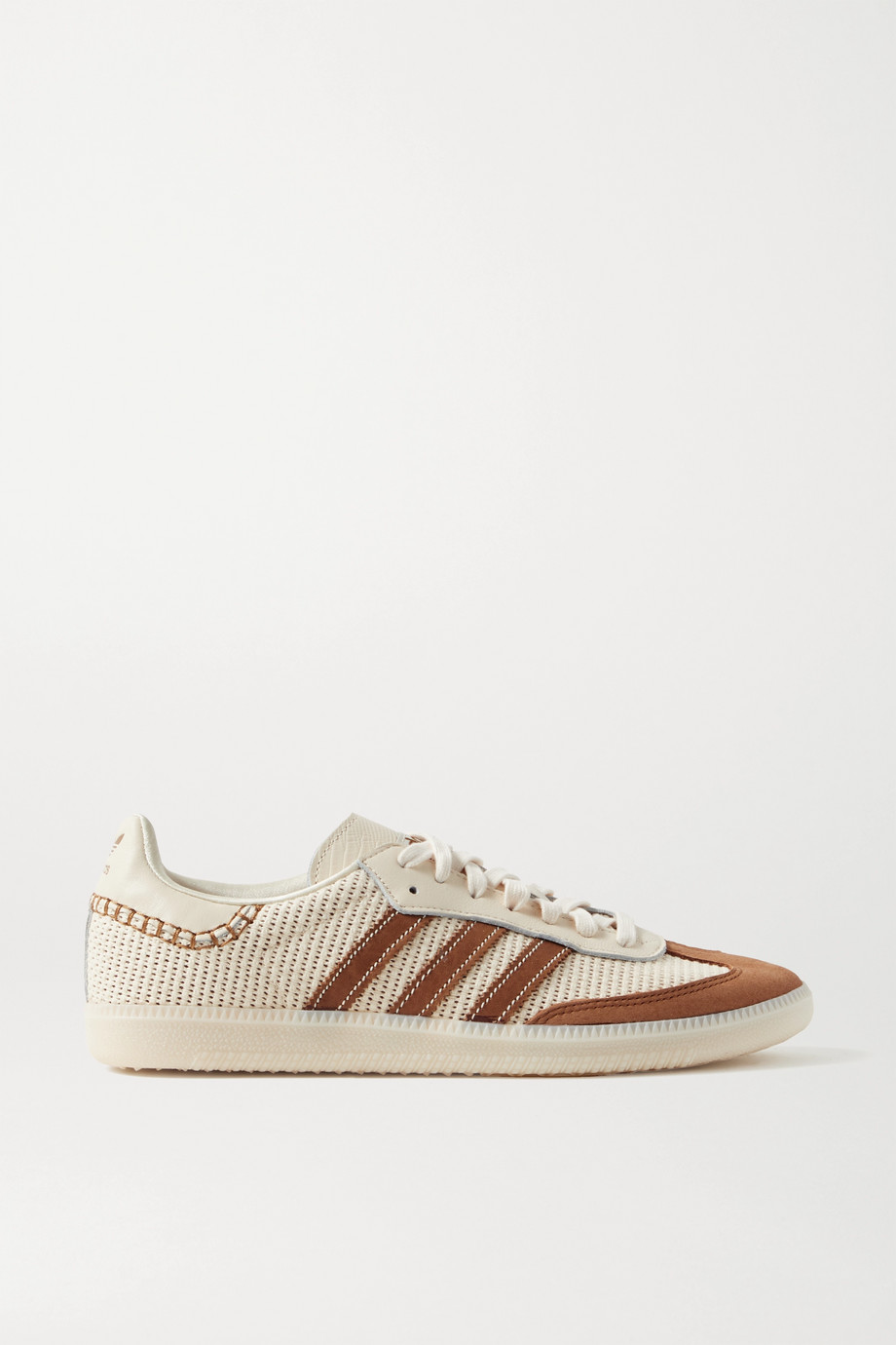 Wales Bonner Samba suede, leather and mesh sneakers by Adidas Oeiginals, available on net-a-porter.com for $180 Bella Hadid Shoes Exact Product