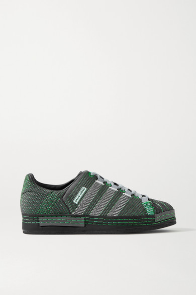 Adidas Originals CRAIG GREEN SUPERSTAR EMBROIDERED SUEDE SNEAKERS