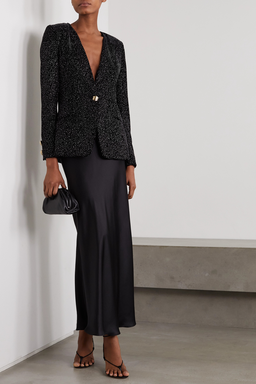 MARTIN MARTIN Fabiana glittered velvet blazer