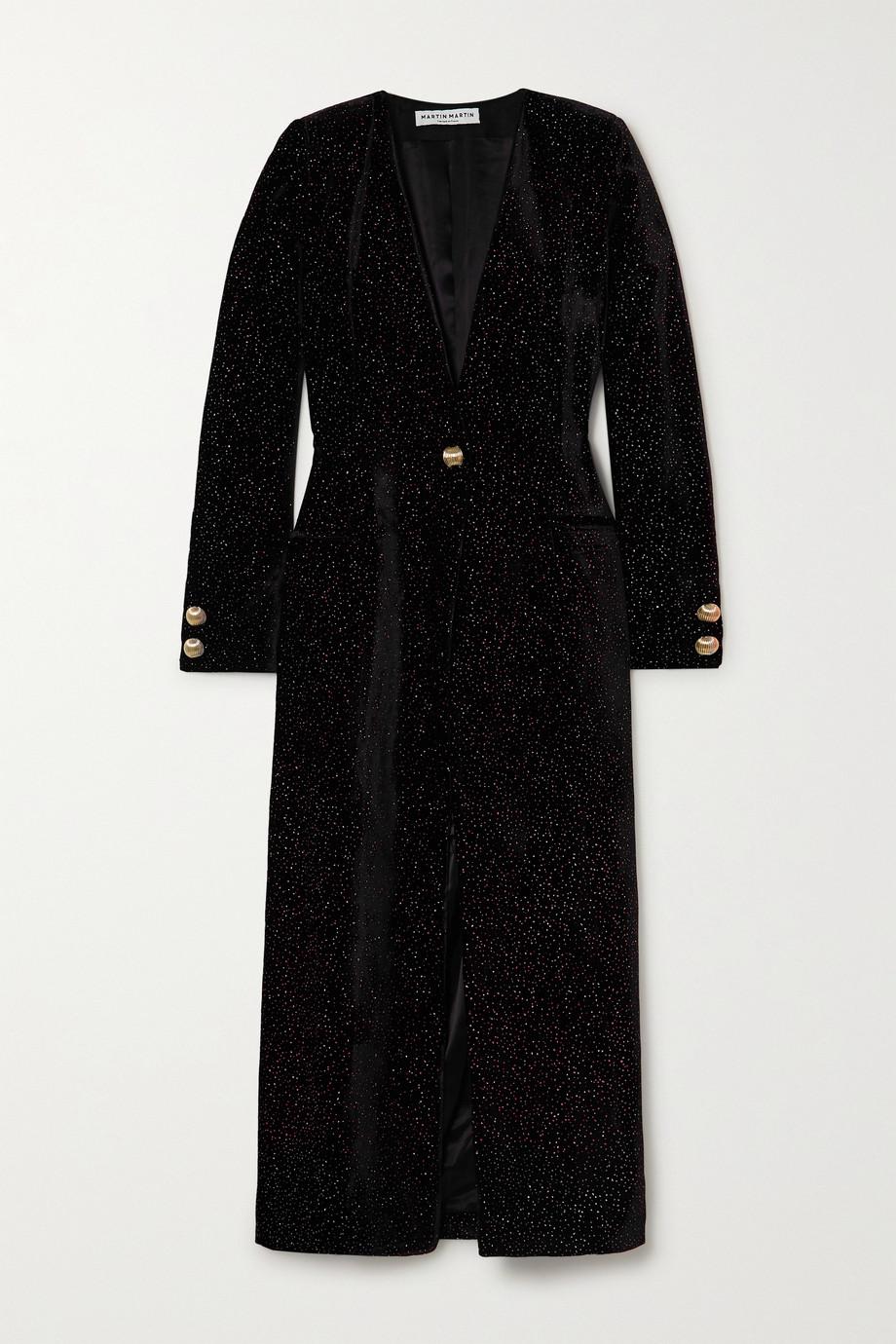 MARTIN MARTIN Victoria glittered velvet coat