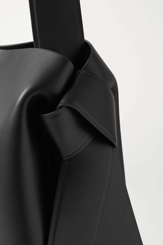 Acne Studios Mittelgroße Schultertasche aus Leder mit Knoten