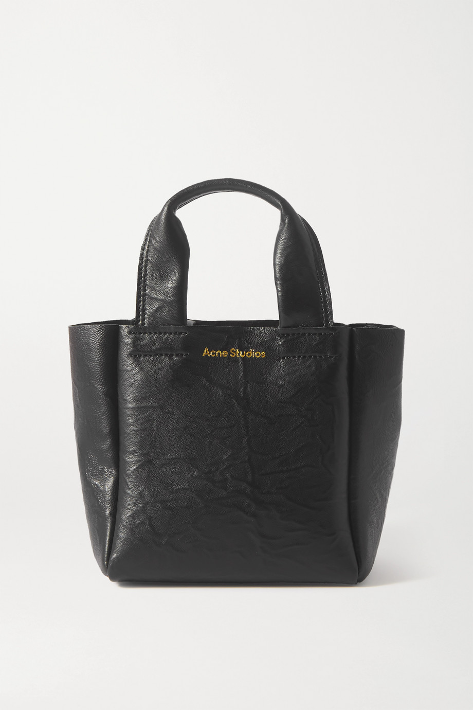 Acne Studios Printed crinkled-leather tote