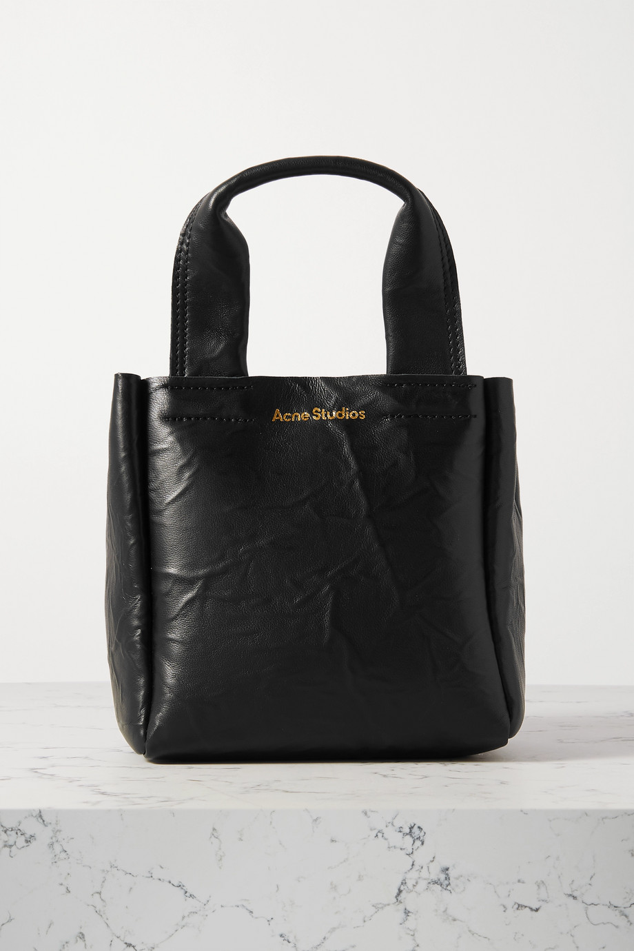 Acne Studios Mini crinkled-leather tote