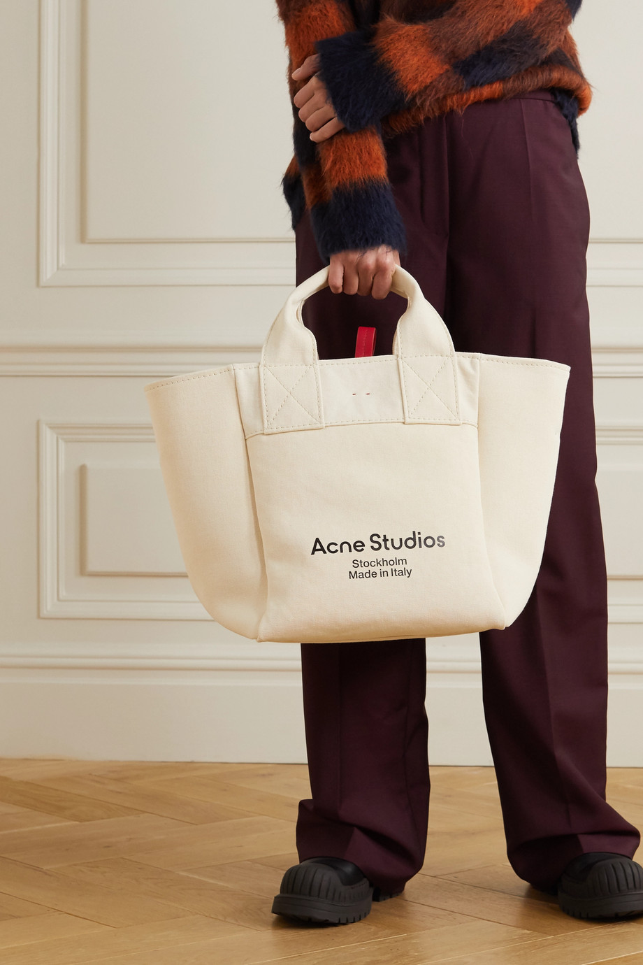 Acne Studios Printed cotton-canvas tote