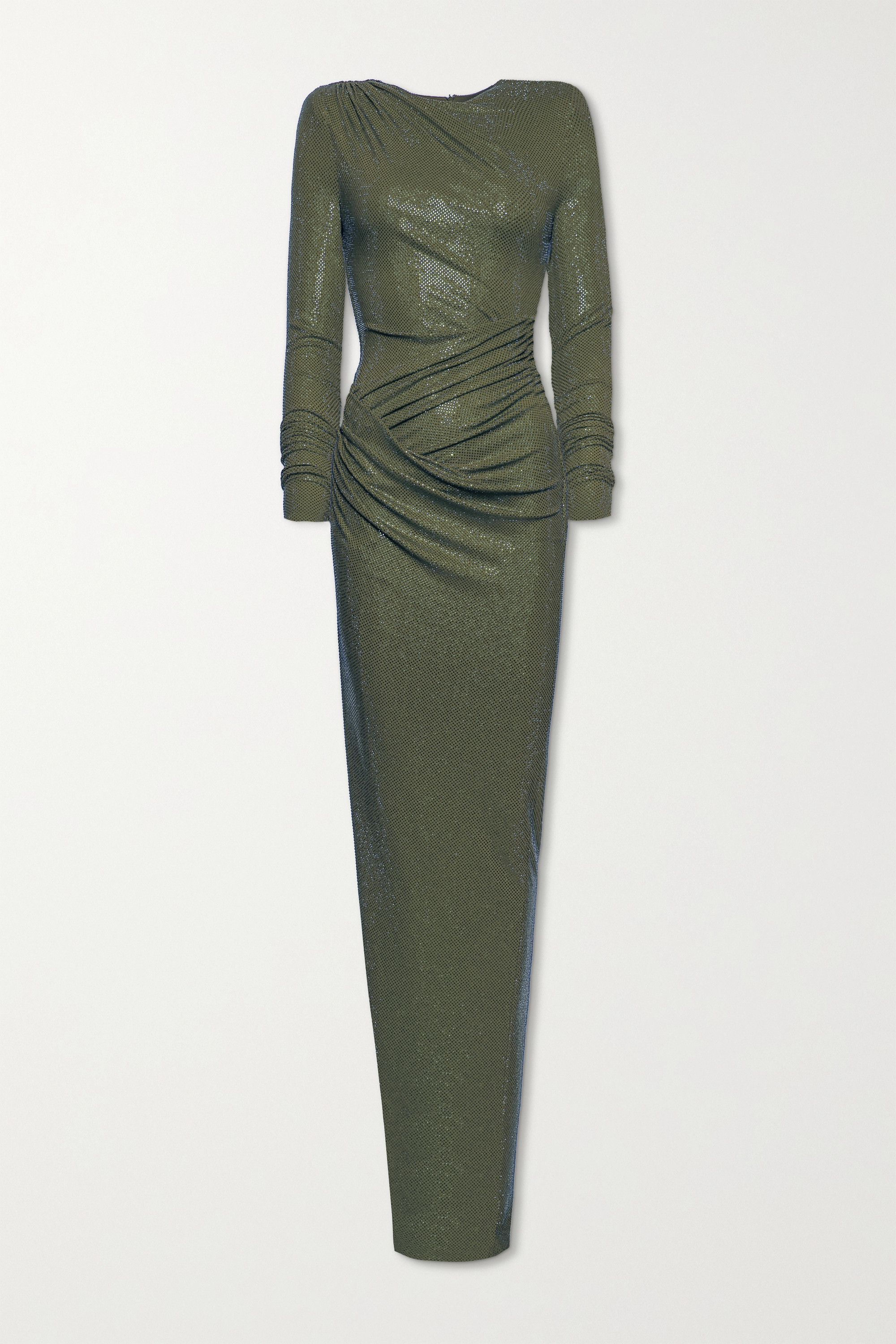 Alexandre Vauthier Draped crystal-embellished stretch-jersey gown