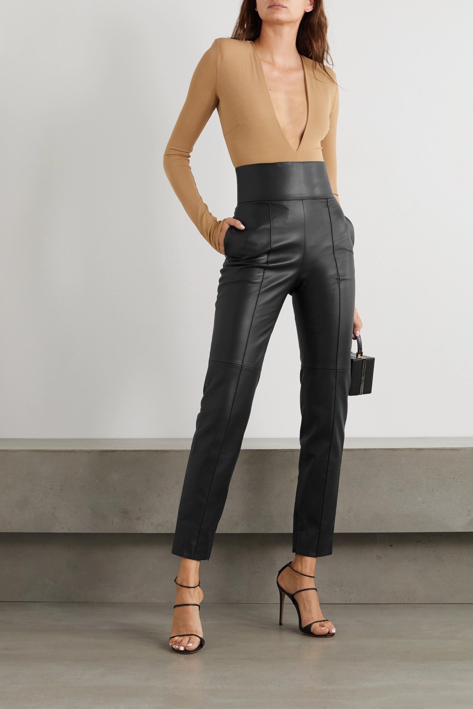 Alexandre Vauthier Leather slim-leg pants