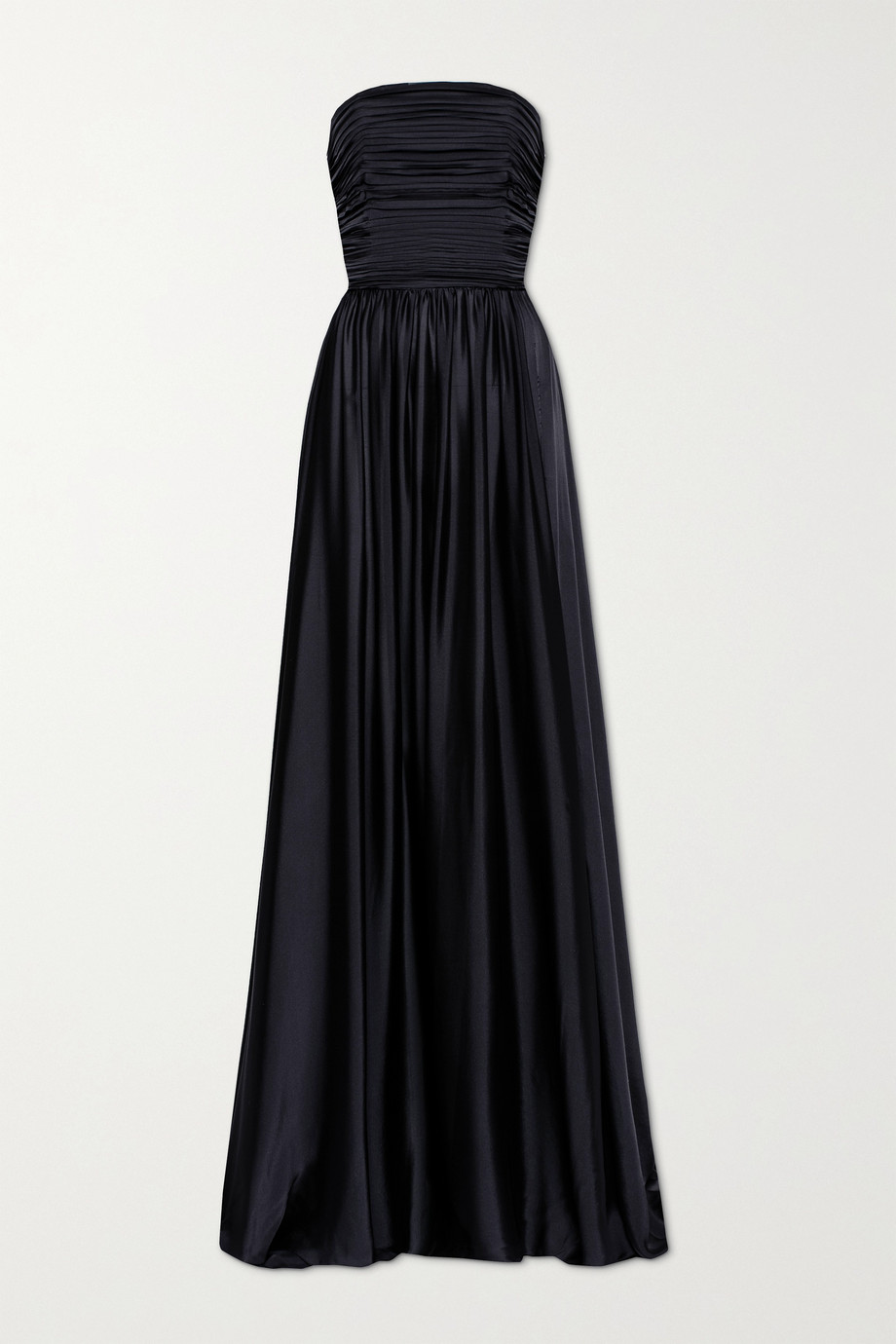 Alexandre Vauthier Strapless pleated satin gown