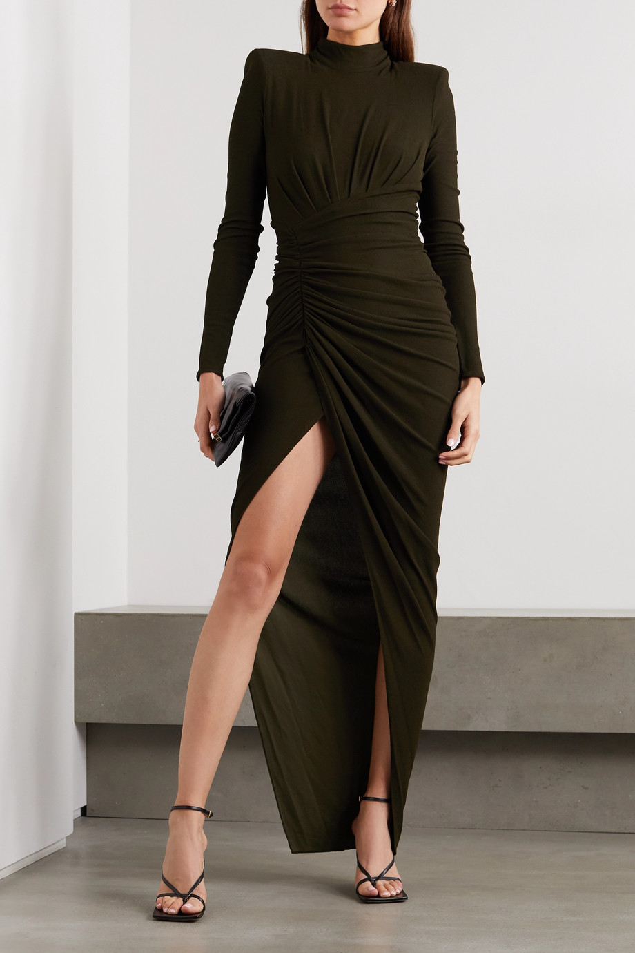 Alexandre Vauthier Ruched stretch-lamé gown