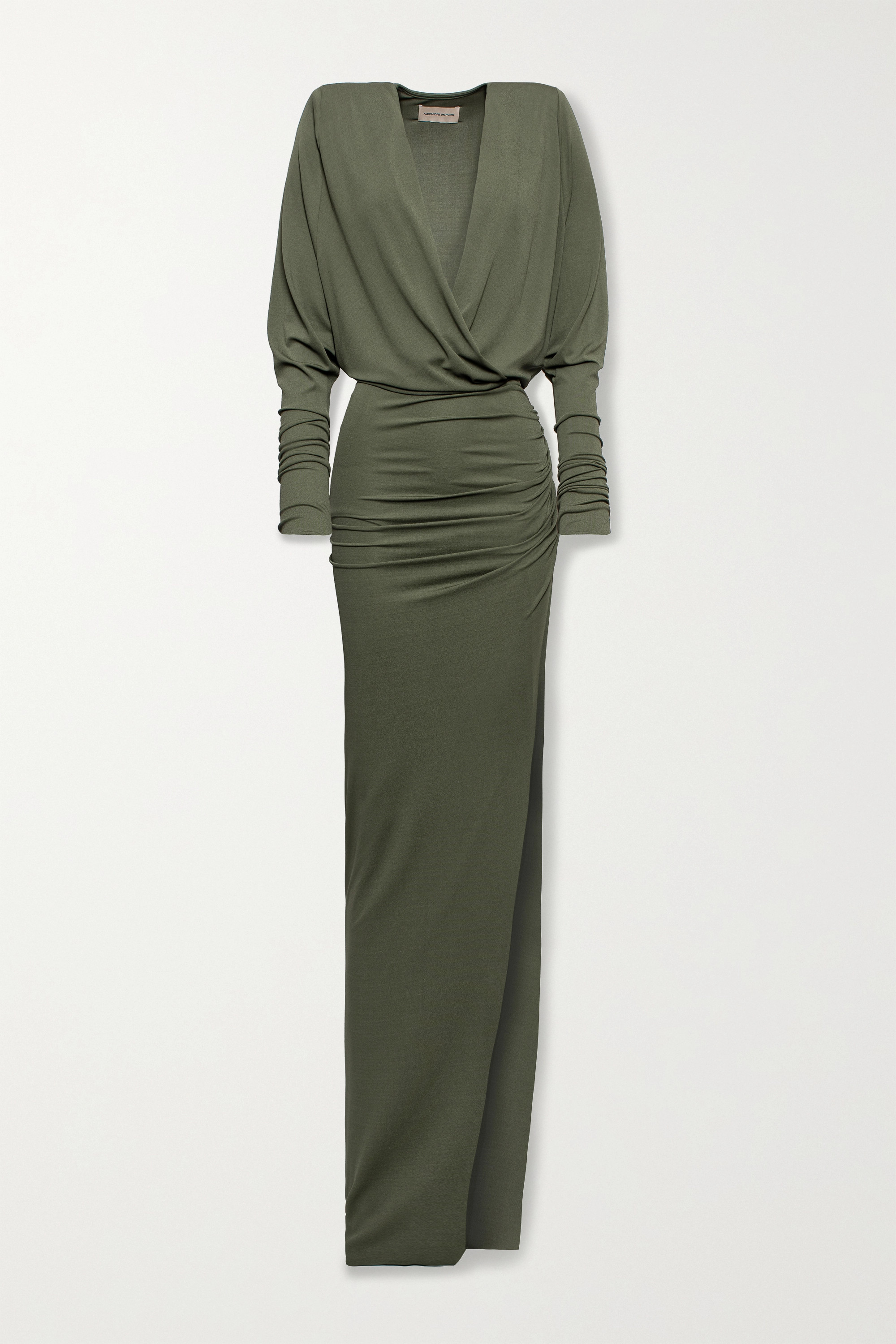 Alexandre Vauthier Ruched stretch-jersey gown