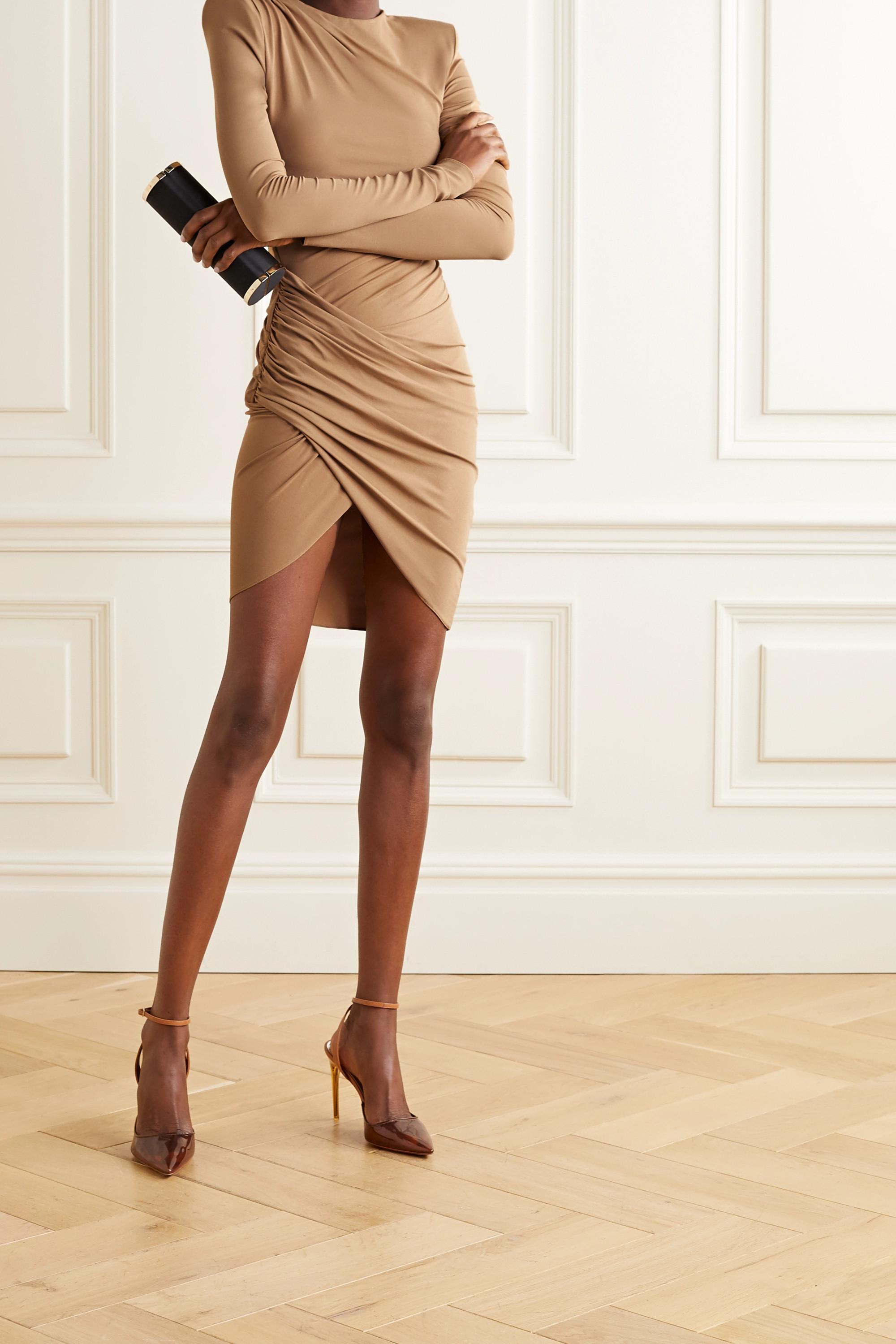 Alexandre Vauthier Drapiertes Minikleid aus Stretch-Jersey
