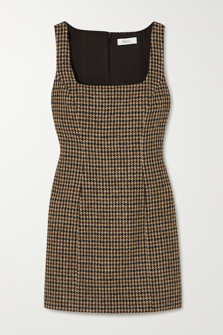 Racil Hailey houndstooth wool-tweed mini dress