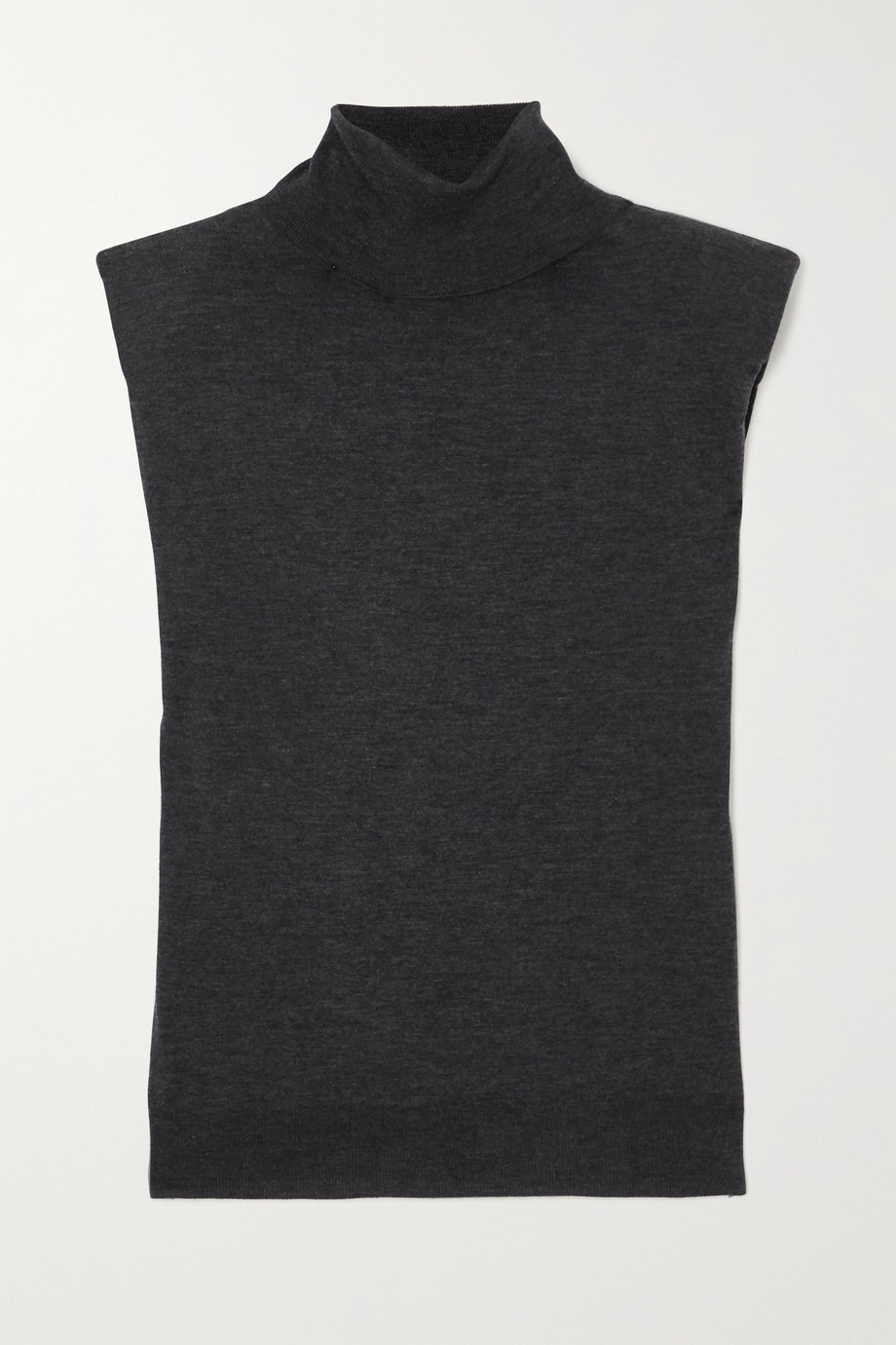 LOULOU STUDIO Mélange wool and cashmere-blend turtleneck tank