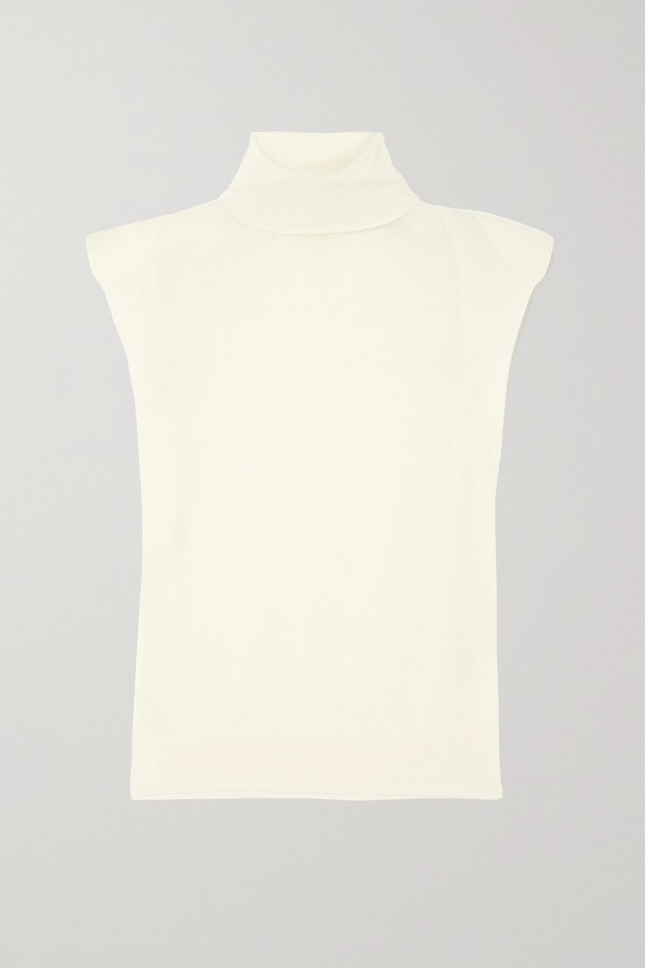 LOULOU STUDIO Wool and cashmere-blend turtleneck tank