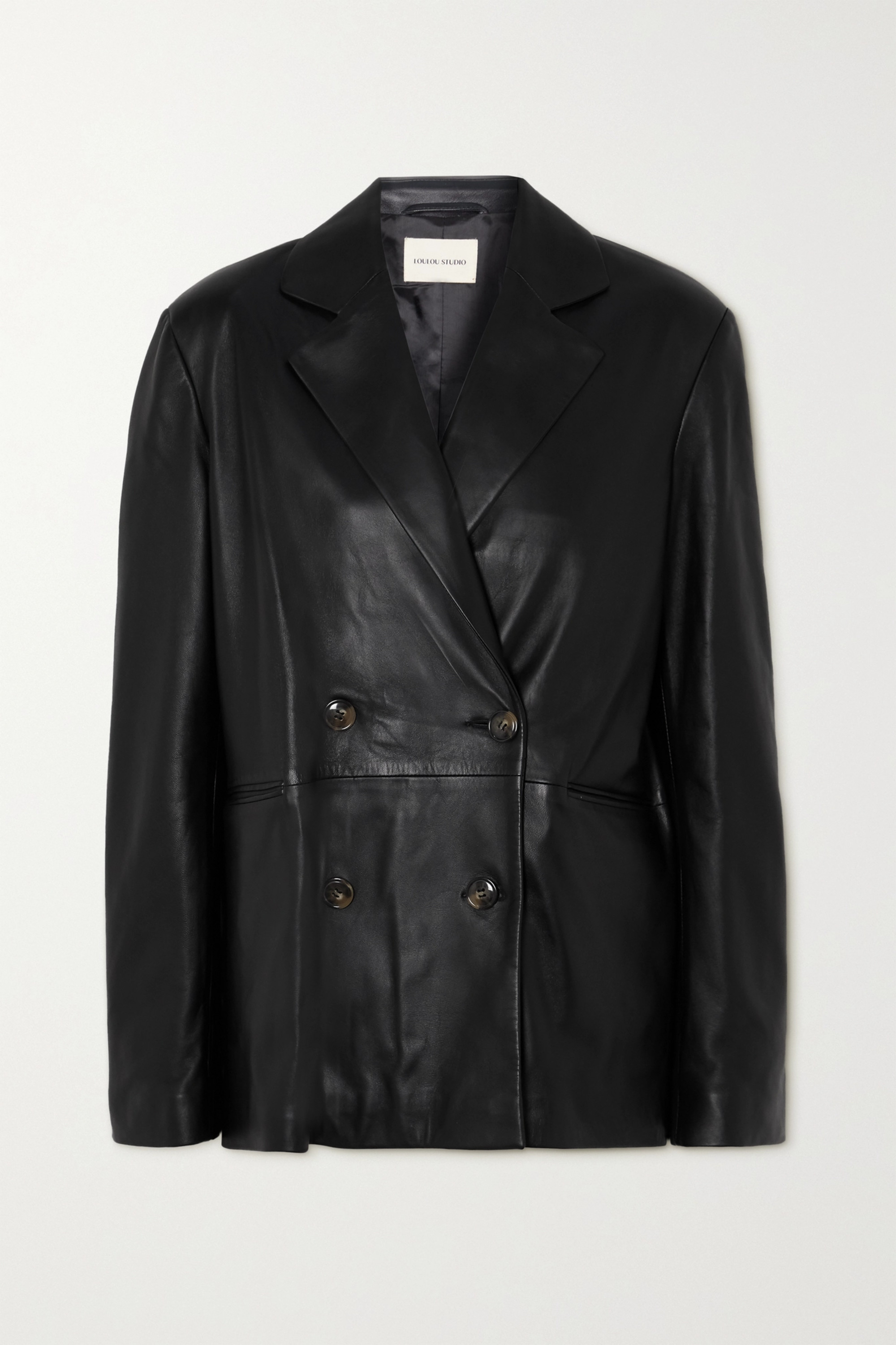 LOULOU STUDIO Double-breasted leather blazer