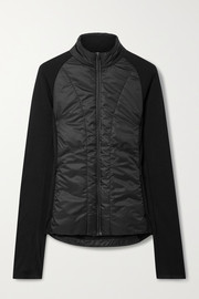 FALKE Ergonomic Sport System Quilted shell and stretch-knit jacket