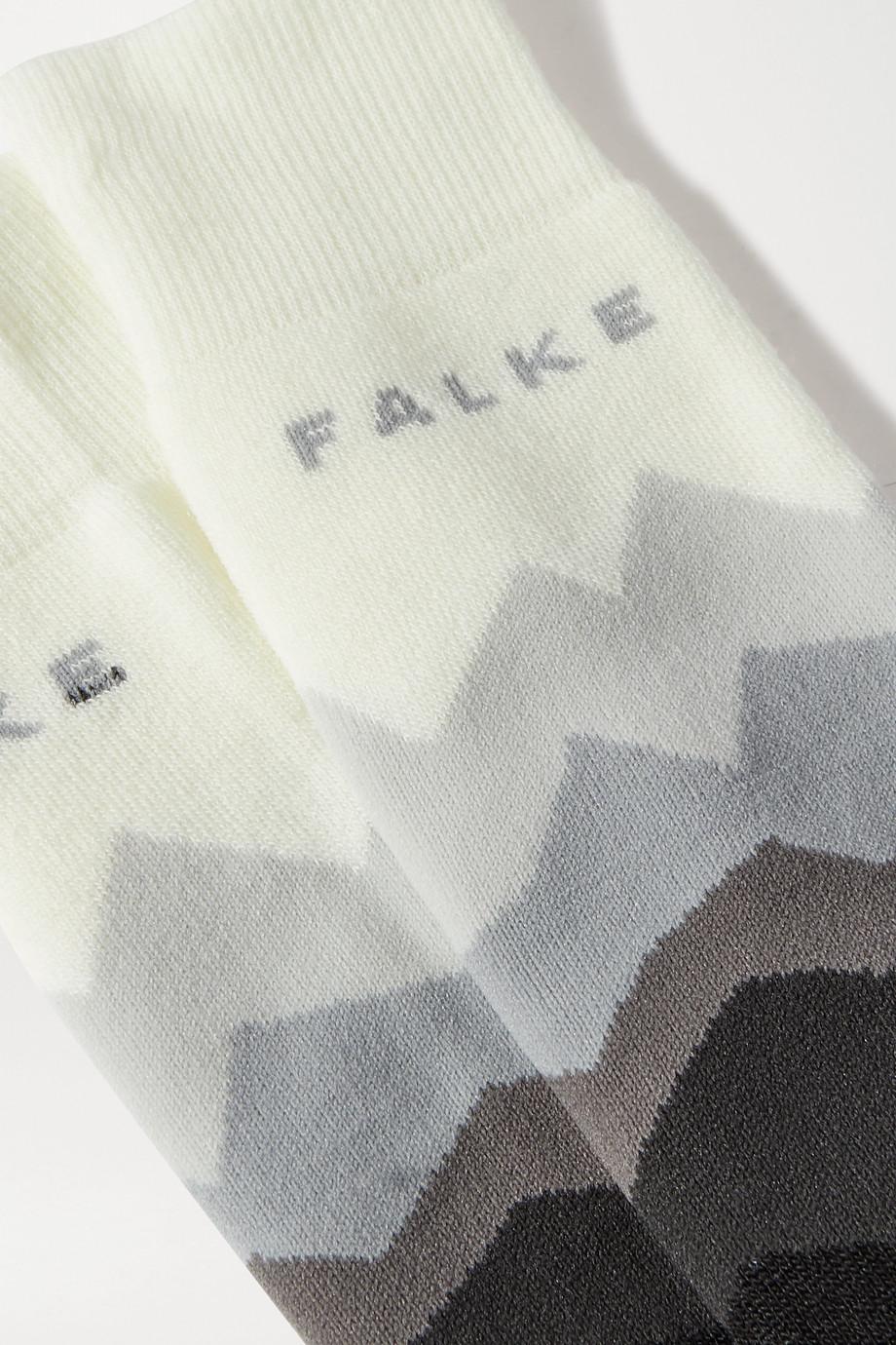 FALKE Ergonomic Sport System SK2 intarsia-knitted ski socks