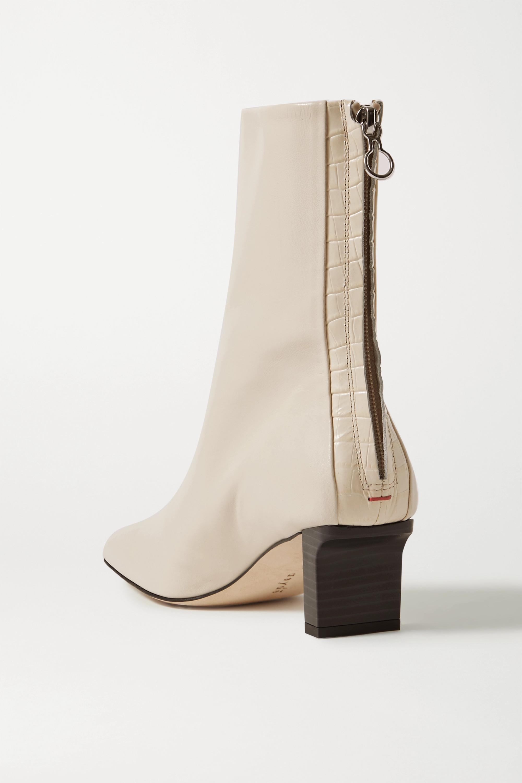 aeyde Molly Stiefel aus Glattleder und Leder mit Krokodileffekt