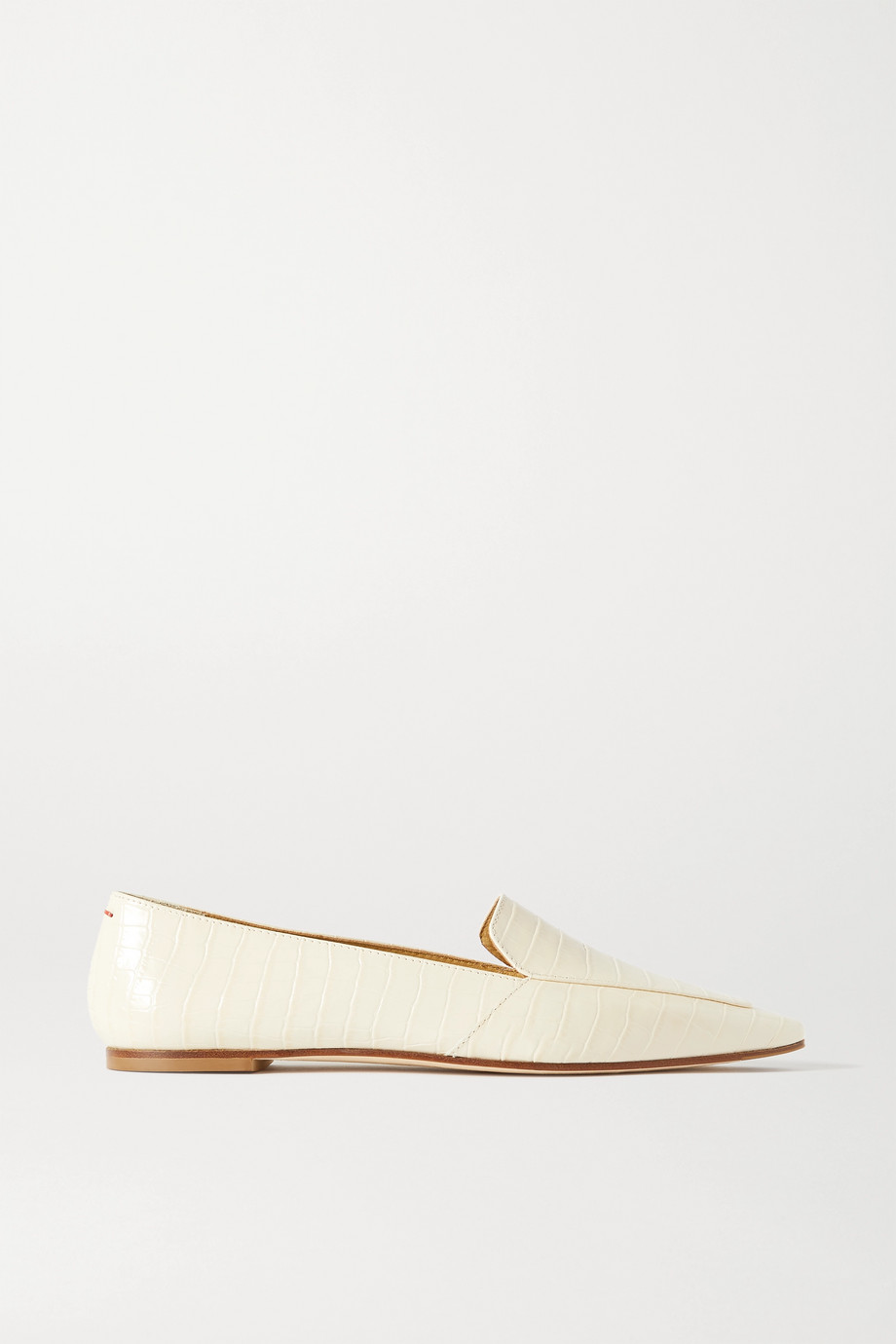 aeyde Aurora croc-effect leather loafers