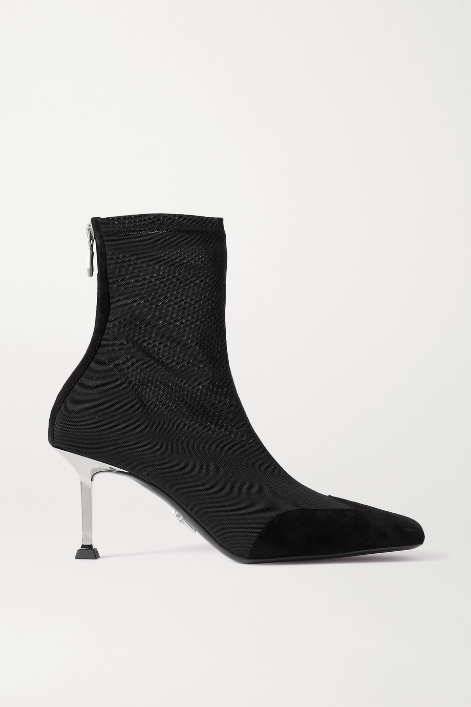 Paciotti Bottines en résille à finitions en daim