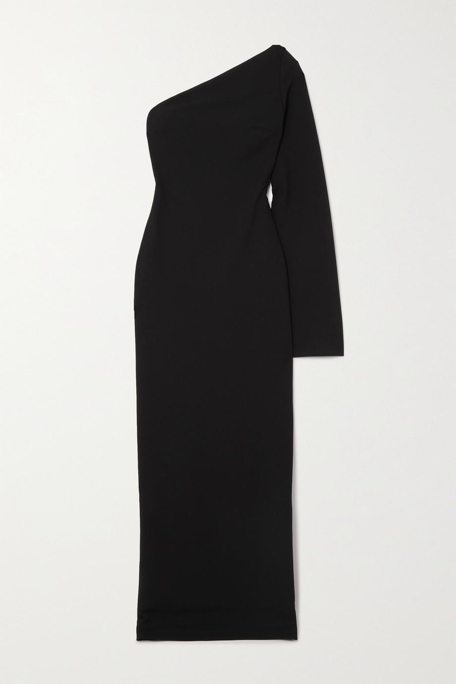 Solace London Callie one-sleeve stretch-cady maxi dress