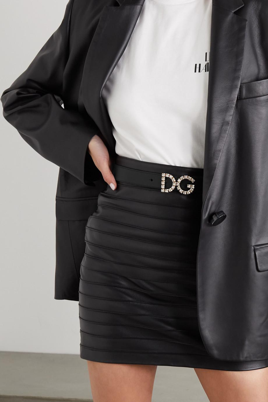 Dolce & Gabbana Ceinture en cuir à cristaux